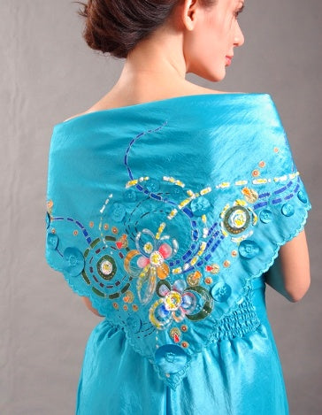 100532 Turquoise Blue Wrap