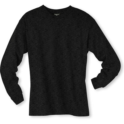 Men's Long sleeve undershirt Charcoal Cotton 100536 Charcoal
