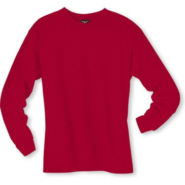 Men's Long sleeve undershirt Red Cotton 100541 Red