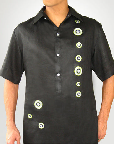 Men's Barong Tagalog 100610 Black Made-To-Order