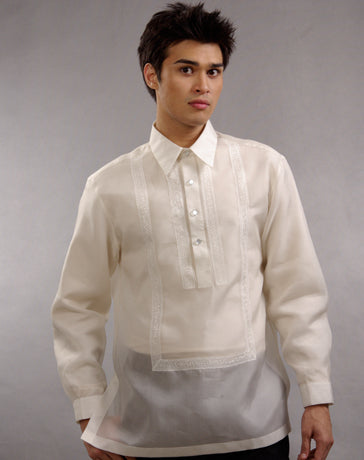 Men's Barong Cream Jusi fabric 100635 Cream