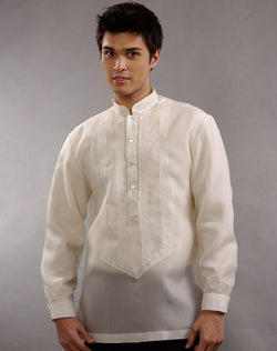 Men's Barong Cream Jusi fabric 100636 Cream