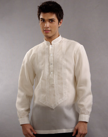 Men's Barong Tagalog 100636 Cream Made-To-Order