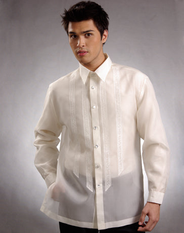 Men's Barong Tagalog 100637 Cream Made-To-Order
