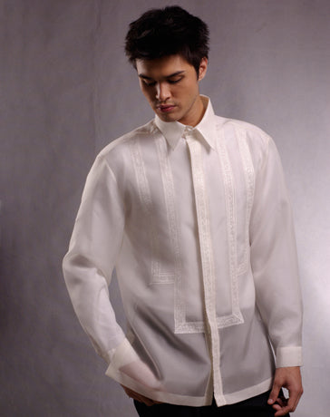Men's Barong Tagalog 100638 Cream Made-To-Order