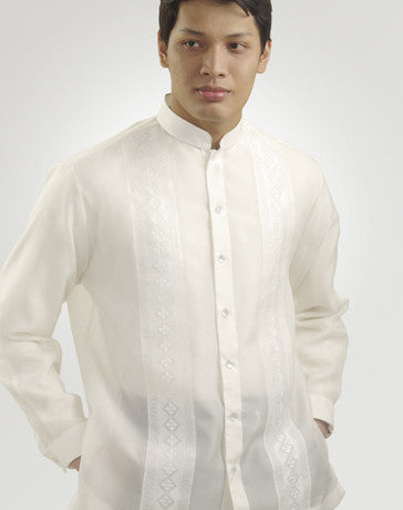Men's Barong White Jusi fabric 100644 White
