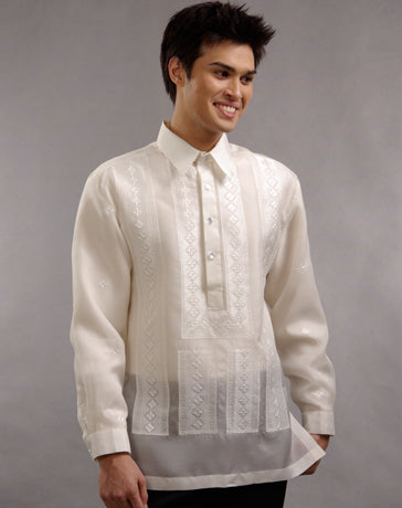 Men's Barong Tagalog 100660 Cream Made-To-Order