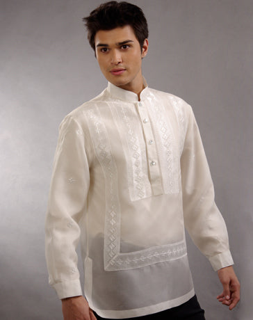 Men's Barong Tagalog 100661 Cream Made-To-Order