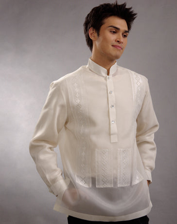 Men's Barong Tagalog 100662 Cream Made-To-Order