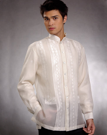 Men's Barong Tagalog 100663 Cream Made-To-Order