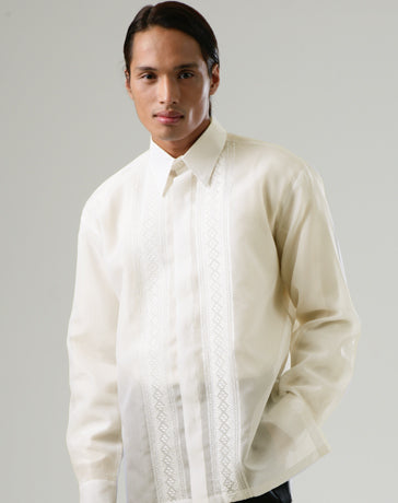 Men's Barong Tagalog 100664 Cream Made-To-Order