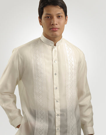Men's Barong Cream Jusi fabric 100665 Cream