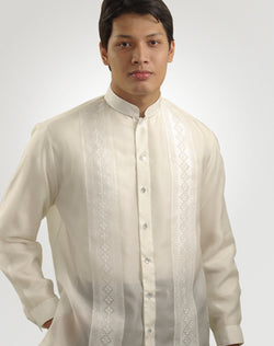 Men's Barong Tagalog 100665 Cream Made-To-Order
