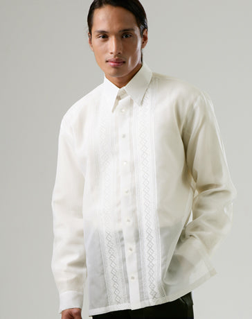 Men's Barong Tagalog 100666 Cream Made-To-Order