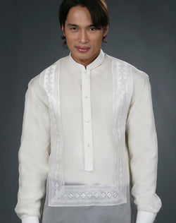 Men's Barong Tagalog 100669 Cream Made-To-Order