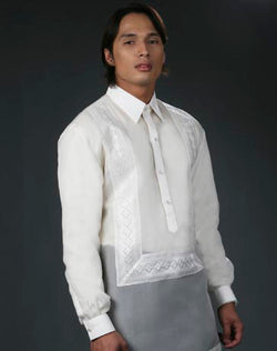 Men's Barong Tagalog 100670 Cream Made-To-Order