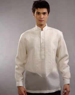 Men's Barong Tagalog 100673 Cream Made-To-Order