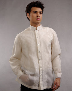 Men's Barong Tagalog 100674 Cream Made-To-Order