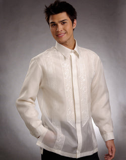 Men's Barong Cream Jusi fabric 100675 Cream