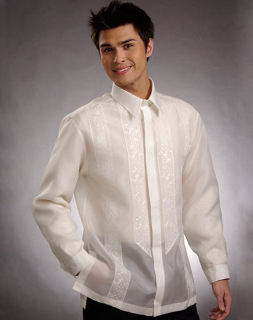 Men's Barong Tagalog 100675 Cream Made-To-Order