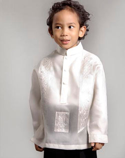 Boys' Barong Cream Jusi fabric 100676 Cream