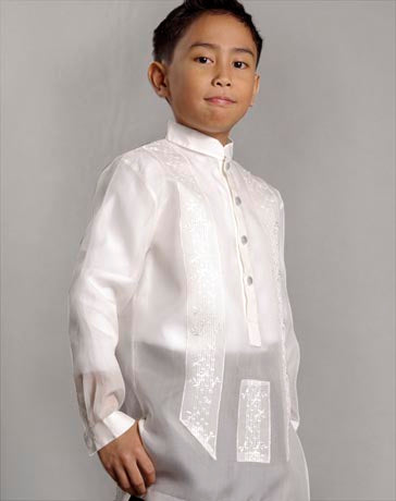 Boys' Barong Cream Jusi fabric 100678 Cream
