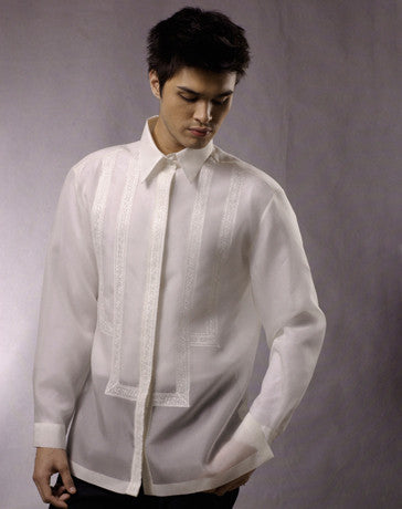 Men's Barong White Jusi fabric 100681 White