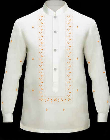 Men's Barong Cream Jusi fabric 100686 Cream