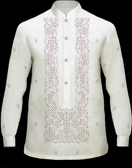 Men's Barong Cream Jusi fabric 100698 Cream