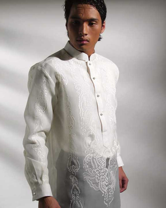 Men's Barong Cream Jusi fabric 100719 Cream