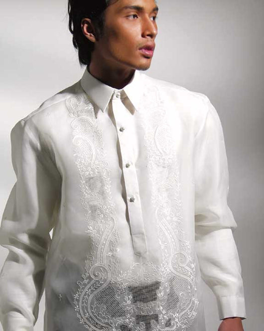 Men's Barong Cream Jusi fabric 100721 Cream