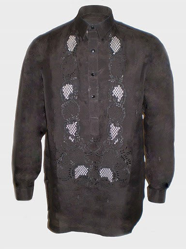 Men's Barong Black Jusi fabric 100745 Black