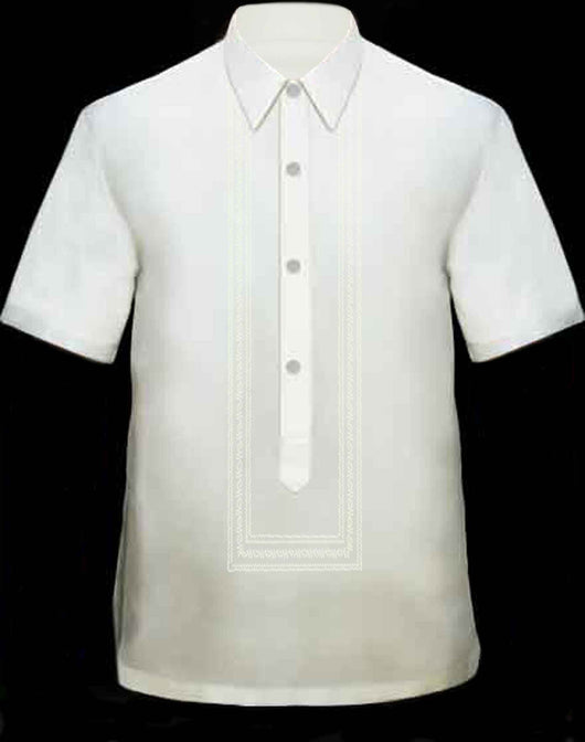 Men's Barong Cream Viscose 100754 Cream