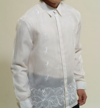Men's Barong White Jusi fabric 100762 White