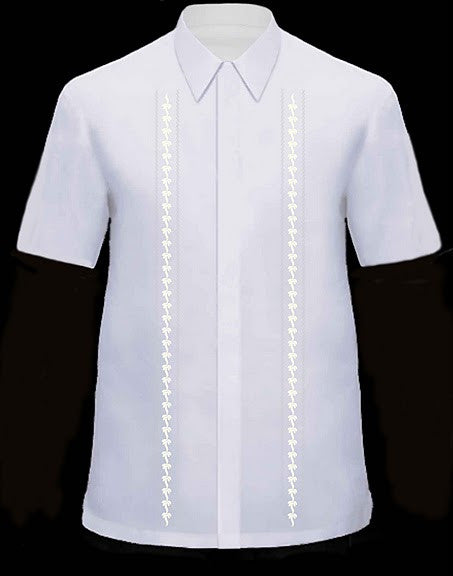 Men's Barong White Viscose 100763 White