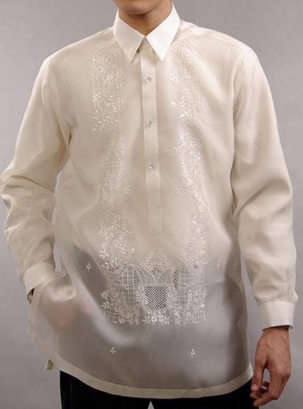 Men's Barong Cream Jusi fabric 100783 Cream