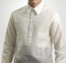 Men's Barong White Jusi fabric 100784 White