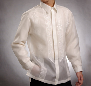 Men's Barong White Jusi fabric 100785 White