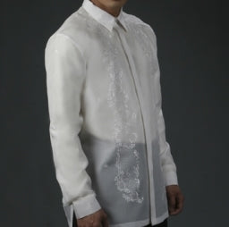 Men's Barong White Jusi fabric 100787 White