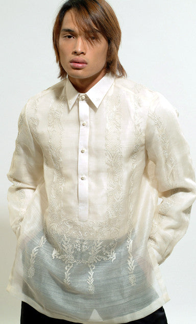 Men's Barong Cream Jusi fabric 100795 Cream