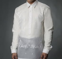 Men's Barong White Jusi fabric 100799 White