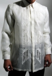 Men's Barong Cream Jusi fabric 100801 Cream