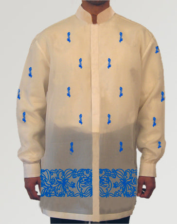 Men's Barong Cream Jusi fabric 100803 Cream