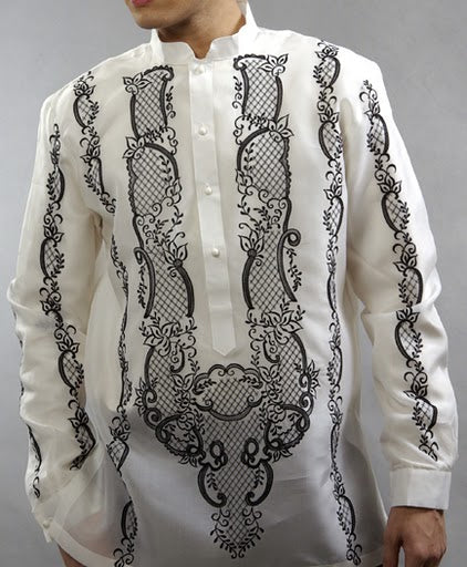 Men's Barong White Jusi fabric 100804 White