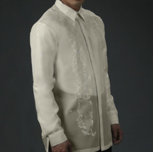 Men's Barong Cream Jusi fabric 100806 Cream