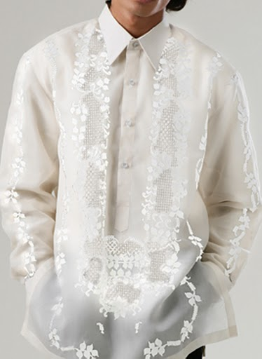 Men's Barong Cream Jusi fabric 100808 Cream