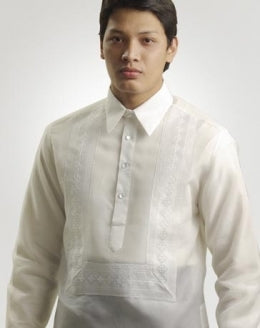Men's Barong White Jusi fabric 100809 White