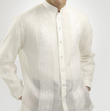 Men's Barong White Jusi fabric 100812 White