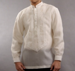 Men's Barong Cream Jusi fabric 100820 Cream