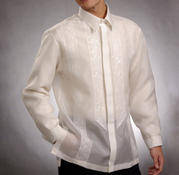 Men's Barong Cream Jusi fabric 100823 Cream